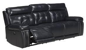 Power Recliner Sofas Graford Walnut Leather Power Reclining Sofa With Adjustable Headrest
