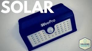 everbright solar light reviews weepro outdoor solar light review 45 led waterproof youtube
