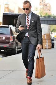 men u0027s charcoal blazer grey dress shirt navy jeans brown leather