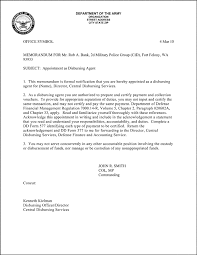 sample army memo format appointment letter air force acceptance