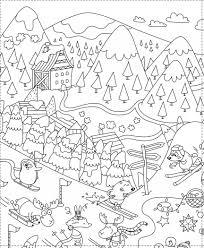 Coloriage géant pour les enfants spécial Noël