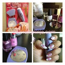 salon express nail art stamping kit the crafty ninja
