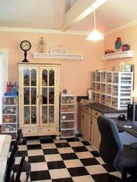 Design A Craft Room - spinning craft storage knock off decor is an awesome website with