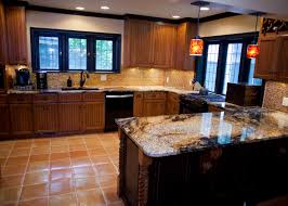 Kitchen Cabinets Portland Or Two Toned Kitchen Cabinets Feature Pennington Door Style In Cherry