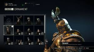 for honor all the exclusive season one winner ornaments