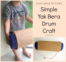 yak bera drum craft sri lanka crafts for children south asian