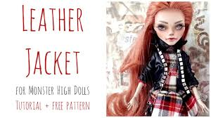 leather jacket monster doll black leather jacket doll