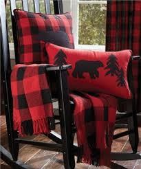 buffalo plaid table runner rustic cabin decor
