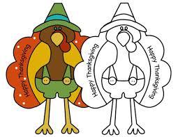 animals draw thanksgiving turkey kids clip art