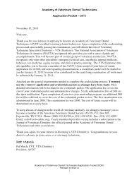 Vet Assistant Resume Cover Letter For Veterinary Technician