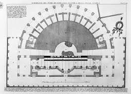 ground plan of the ground floor of the theater and the stage of