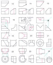 orthographic projection worksheets huanyii com