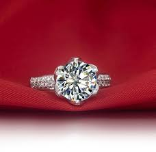lotus flower engagement ring vintage lotus flower shape 3 carat certified nscd lovely diamond
