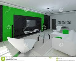 hi tech design of the living room stock illustration image with