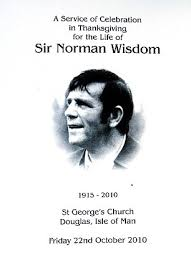 norman wisdom s funeral is more traditionally than he requested
