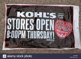 advertisement for thanksgiving black friday sale at kohl s