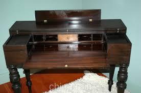 vintage antique flip top mahogany writing desk secretary curly