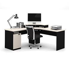 home office corner workstation desk amazon com bestar hton corner workstation in sand granite