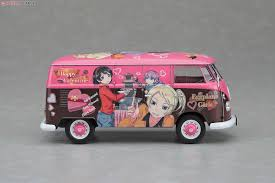 van volkswagen pink volkswagen type2 delivery van egg girls happy valentine model