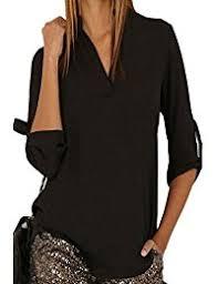 womens black blouse amazon co uk black blouses shirts clothing