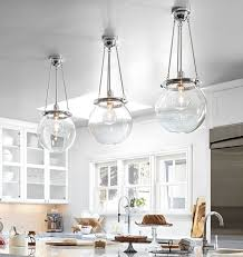 Seeded Glass Pendant Light Kitchen Pendant Lighting Clear Glass Pendant Lights Blown Glass