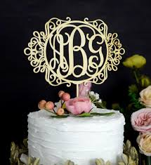 monogram wedding cake topper monogram wedding cake topper personalized with 3 letters initials
