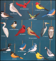 audubon fisher wildlife like bird ornament collection