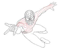 spiderman outline