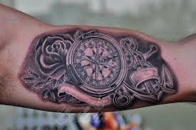 tattoo compass realistic compass and anchor tattoo by bokitattoo on deviantart