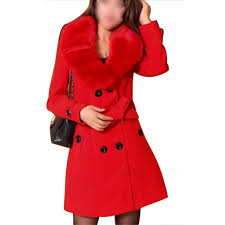 red wool winter coat women promotion shop for promotional red wool