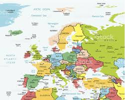 europe map countries and cities stock vector art 455437447 istock