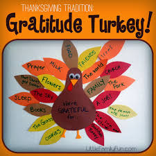 last week we started our traditional gratitude turkey every year