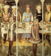 banchetti antica roma figure banchetto rinascimentale scalco trinciante coppiere