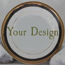personalized dinner plate reserved for dru 2 custom gold dinner plates 10 5