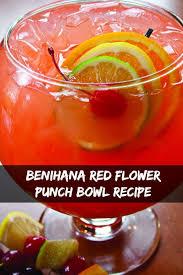 punch bowl benihana flower punch bowl recipe