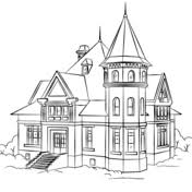coloring page house houses coloring pages free coloring pages