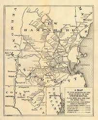 Massachusetts State Map by