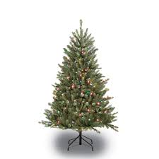 4 5 ft pre lit fraser fir artificial tree with 250 multi
