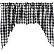 Navy Buffalo Check Curtains Buffalo Black Check Lined Swag Curtains U2013 Primitive Star Quilt Shop
