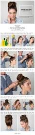 cute bun in 3 minutes bun pinterest long hairstyles my