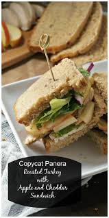 roasted turkey apple and cheddar sandwich