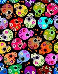 Sugar Skulls For Sale Day Of The Dead Skulls U0027 Fabric By Third Half Studios Skulls