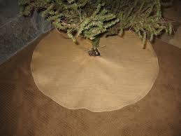 decorating round burlap tree skirt with chic christmas decoration