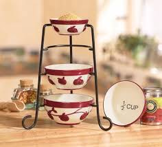 kitchen decor collections decorative measuring cups apple decor kitchen measuring cups