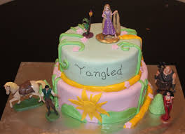 tangled cake topper rapunzel cakes decoration ideas birthday cakes