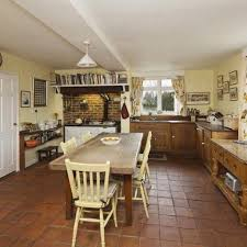 Farmhouse Kitchen Design by Two Wooden Bar Stool On Wooden Floor Country Old Farmhouse Kitchen
