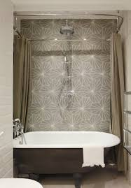 Ceiling Hung Curtain Poles Ideas Bathroom Ceiling Mounted Shower Curtain Rods Rectangular Suspended