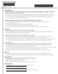 resume exles for college internships in florida college internship resume cliffordsphotography com