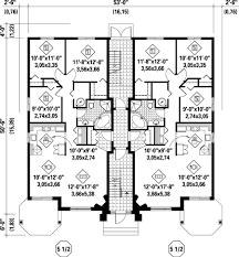 multi level home floor plans multi family plan 52764 at familyhomeplans com