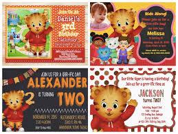 Happy Birthday Invitation Cards Matter Daniel Tiger Birthday Invitations Dhavalthakur Com